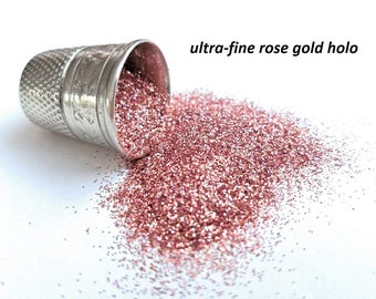 glitter - rose gold hologram ultra-fine polyester