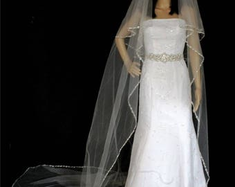 stunning Bridal Veil made with beads all around