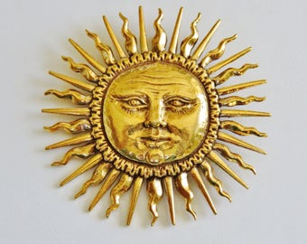 Metropolitan Museum of Art Vintage Spectacular Sunshine Combination Brooch Pendant/Mint