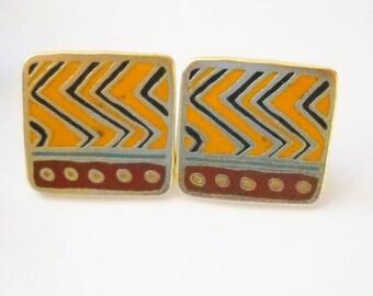 Laurel Burch Earrings Raindance Rain Dance Post Earring Peiced Laurel Burch Tribal Boho Festival