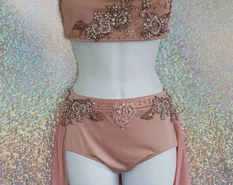 Dance Costume with Swarovski  BLING! Any color!
