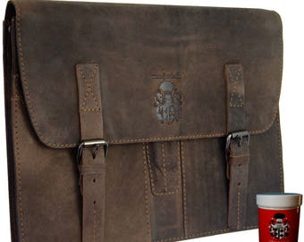 Briefcase – Writing case FRESENIUS made of brown leather