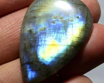 43 carat Natural Labradorite cabochon  Cabochon loose gemstone size 38 mm x 25 mm x 5 mm  approx 0098