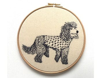 Poodle Embroidery Hoop