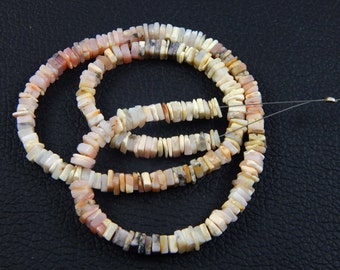 25% sale wholesale price 66 ct approx 1 strands natural pink Opal Heishi spacer Beads size 4-5 mm 16 inch necklace