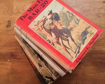 Set of 5 Hardback Books - Western / Cowboy Stories