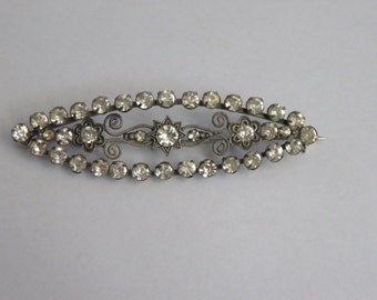 Art Deco Rhinestone Vintage Large Pin Brooch