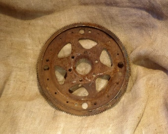 Large Metal Gear, Cog, or Sprocket, Rusty Factory Industrial Salvage