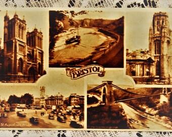 1943 Vintage Postcard/Vintage Bristol UK Postcard/Vintage Bristol photograph/vintage europe postcard/paper ephemera/vintage photograph