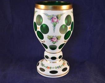 Stunning Vintage BOHEMIAN / CZECH Glass Goblet