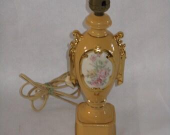 Vintage small lamp ceramic dresser accent