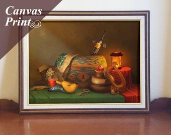 Canvas Zelda Still Life Print