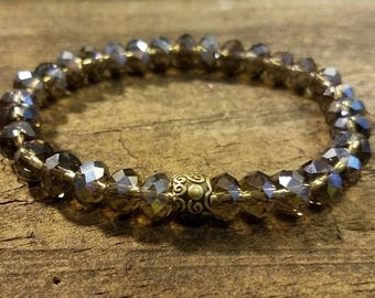Beaded Bracelet, Bangle Bracelet, Stackable Bracelet, Crystal Bracelet
