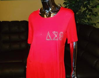 Red Delta Tunic Shirt