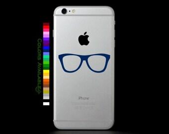 Nerd Glasses Phone Decal