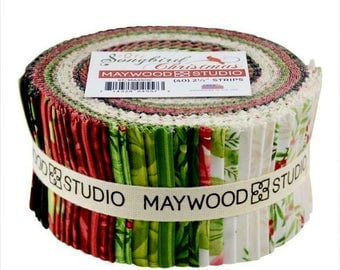 Sale!   Sale!   SONGBIRD CHRISTMAS    By:  Maywood Studios     Jelly Roll -  40 - 2.5 Inch Strips