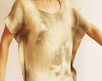 Dress ARENA: iridescent linen
