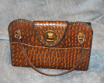 Vintage Hand Tooled Leather, ? Kay, I could not make out what the first word was, The design is Gorgeous, This is a one of a kind, Special