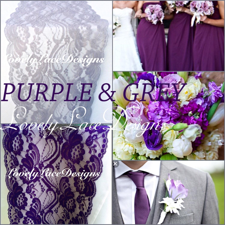 Purple And Grey Wedding Decor Gallery Decoration Ideas Purplegray Weddingslace Table Runner3ft 10ft X 7