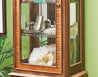 Glass Tower Display CabinetWoodworking Plans