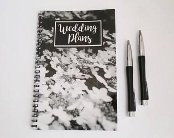 Wedding Notebook, Spiral bound Journal, Blank Paper Notebook,  Quote notebook, Handmade Journal, Custom Notebook, Personalized Journal