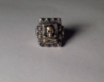 Mexican Biker Skull N Bones Ring Vintage Type Size 12