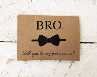 Groomsman Card // Best Man Card