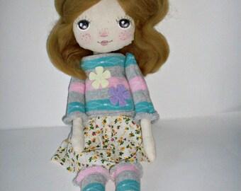 cloth doll,rag doll, nursery decor