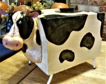 Cow Box, Cow Trinket Box, Wood Cow, Cow Décor, Kitchen Cows, Farmhouse Kitchen, Farmhouse Décor