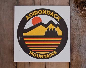 Adirondack Mountains // Handmade Screen Print