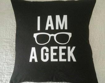 I Am A Geek Pillow Cover-Throw Pillow Cover-Geek Chic