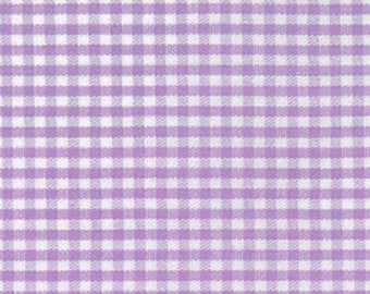 """Sale - Fabric Finders -Lilac Gingham Check  1/16"""" gingham - 60"""" wide - 100% cotton"""