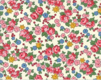 Spring Bouquet in Natural by American Jane for Moda - 1/2 Yard
