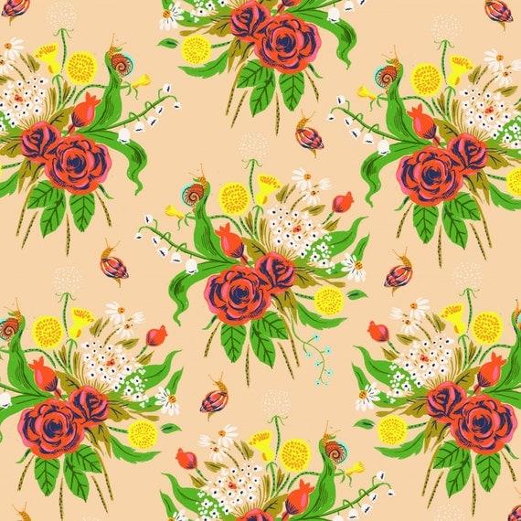 Sleeping Porch Lawn Wildflowers Dark Blush Background
