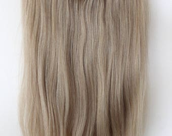 Human hair extension etsy 18 halo secret miracle wire easy to install 100 human pmusecretfo Image collections