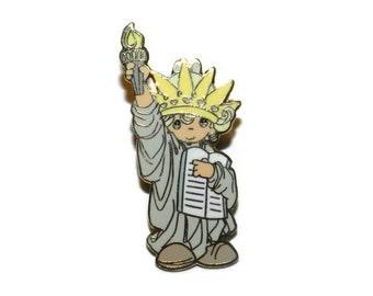 Precious Moments Statue Of Liberty Brooch, Statue Of Liberty Pin, Precious Moments Pin, Precious Moments Brooch,
