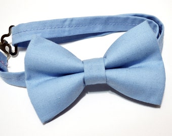 Blueberry/ blue gray bow ties For baby/Toddler/Teen/Adult/with Adjust strap/Clip on