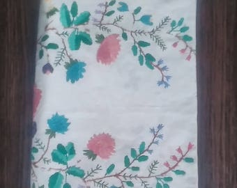 Vintage Ukrainian Embroidered Towel - Ukrainian rushnyk - Vintage Floral Emroidery Tea Towel
