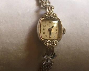 "Vintage 1964 Bulova women's ""23"" watch runs great"