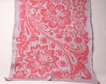 flowers blanket, Baby Gift ideas, baby afghan, Stroller Blanket, baby wrap, toddler blanket, gray baby blanket, knit handmade blanket