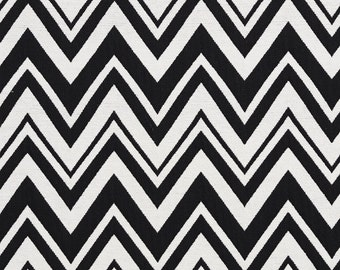 Black And White Zig Zag Chevron Contemporary Upholstery Fabric By The Yard | Pattern # B0010C