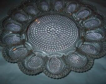 Vintage Glass Egg Plate Platter