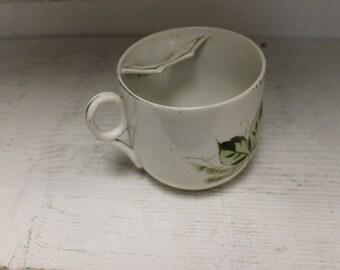 Vintage Porcelain Mustache Cup c. 1940's