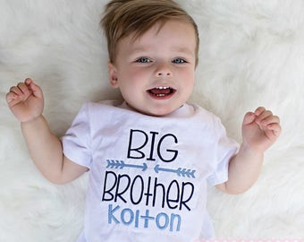 Big Brother Shirt Embroidered Personalized Custom Name ANY COLORS