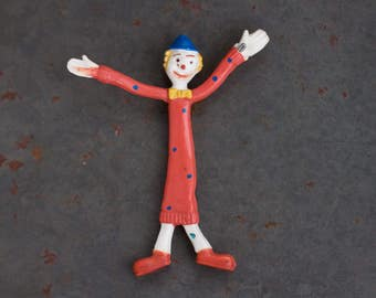Rubber Tiny Clown - Wired Flexible