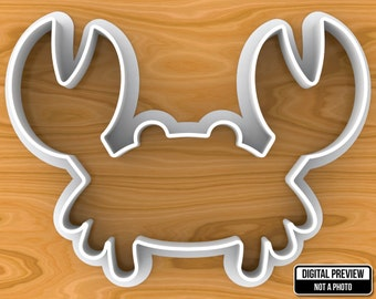 Sea Crab Cookie Cutter, Selectable sizes