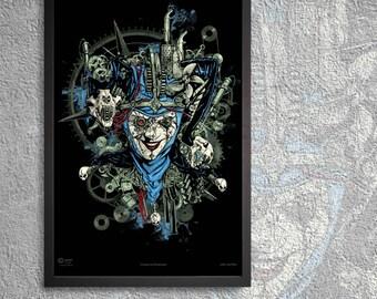 The steampunk Joker, steam punk art poster print