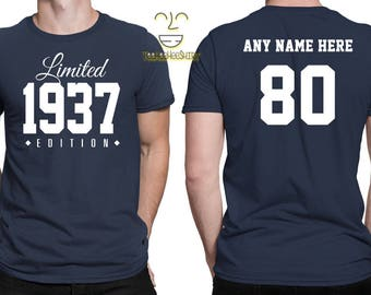 1937 Limited Edition 80th Birthday Party Shirt, 80 years old shirt, limited edition 80 year old, 80th birthday party tee shirt