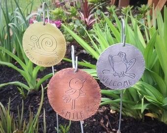 Set Of 3 Garden Tags,Garden Sign,Garden Decor,Flower Decor,Plant