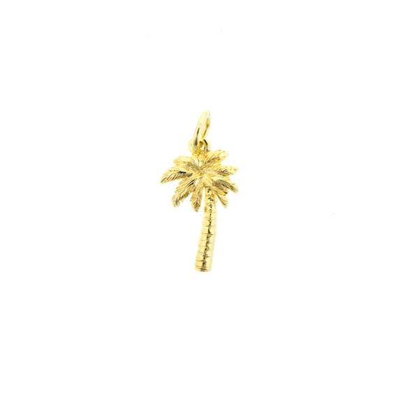 gold palm tree charm